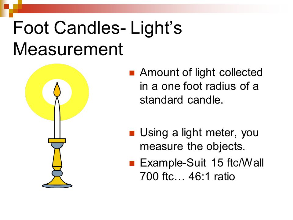 Foot Candles- Light's Measurement