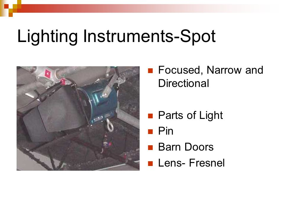 Lighting Instruments-Spot