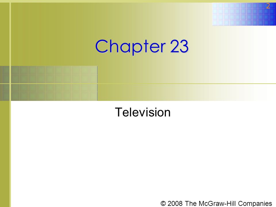 Chapter 23 Television