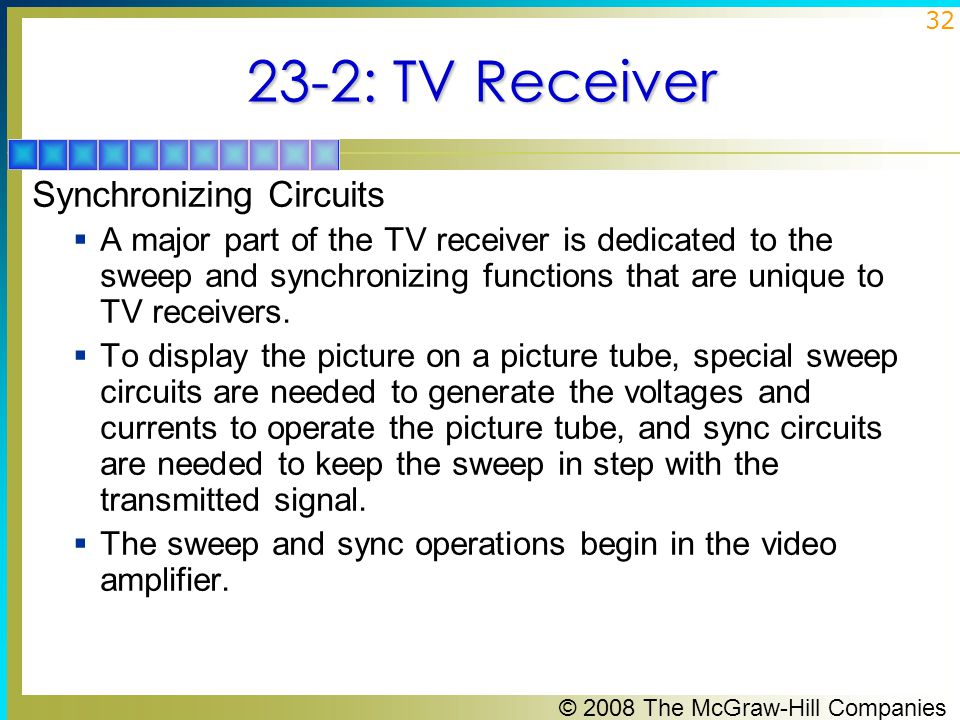 23-2: TV Receiver Synchronizing Circuits