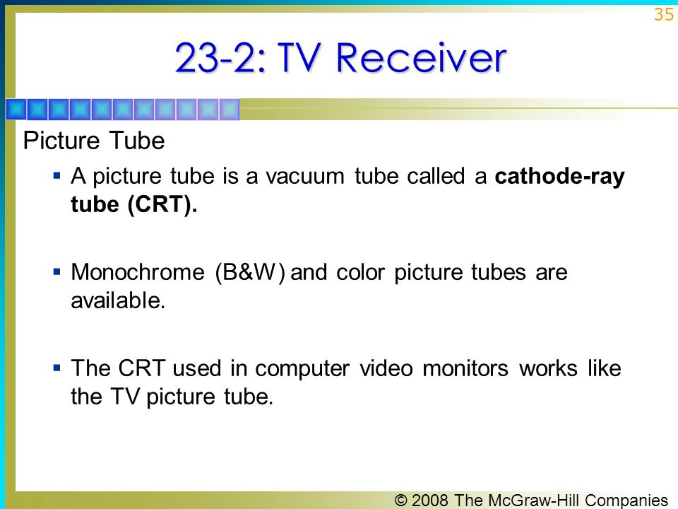 23-2: TV Receiver Picture Tube
