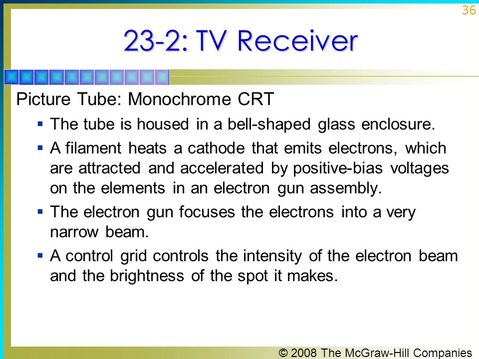 23-2: TV Receiver Picture Tube: Monochrome CRT