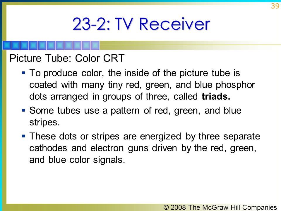 23-2: TV Receiver Picture Tube: Color CRT