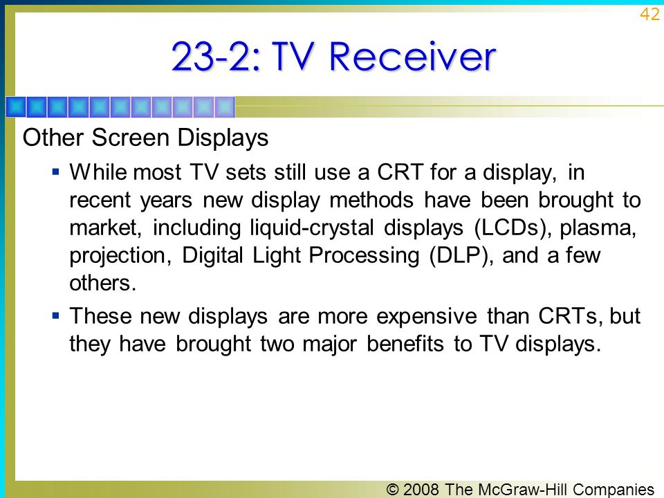 23-2: TV Receiver Other Screen Displays