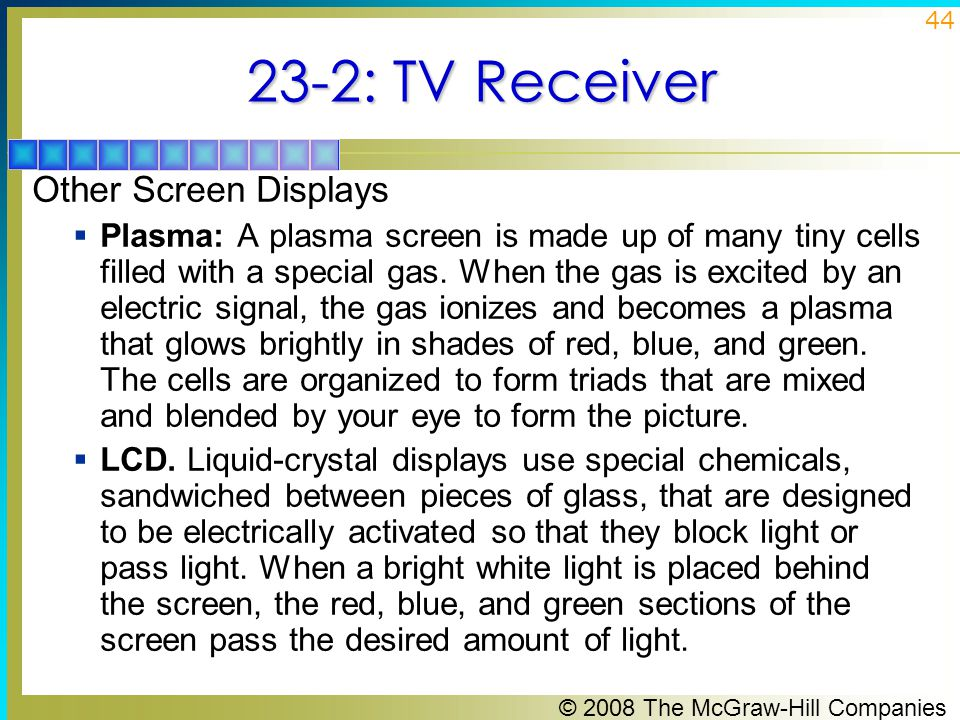 23-2: TV Receiver Other Screen Displays