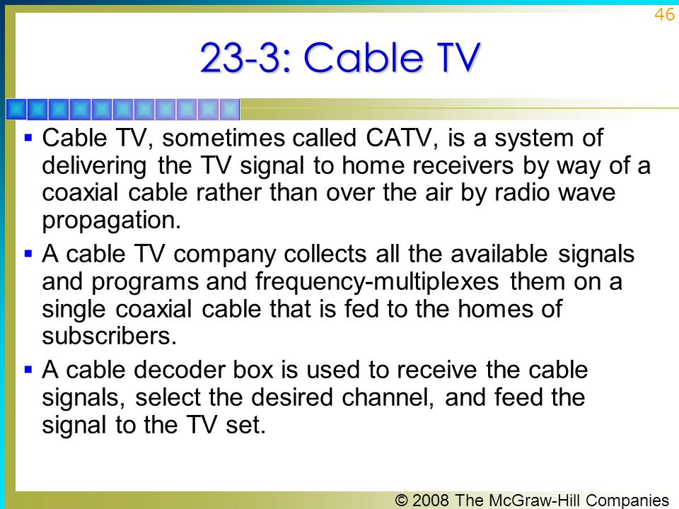 23-3: Cable TV