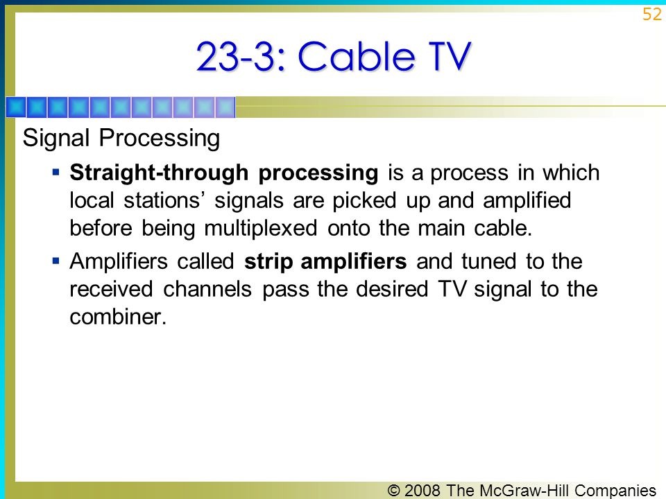 23-3: Cable TV Signal Processing