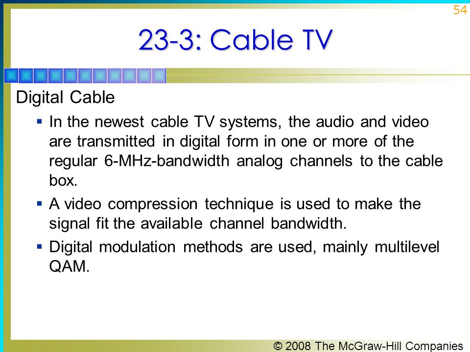 23-3: Cable TV Digital Cable