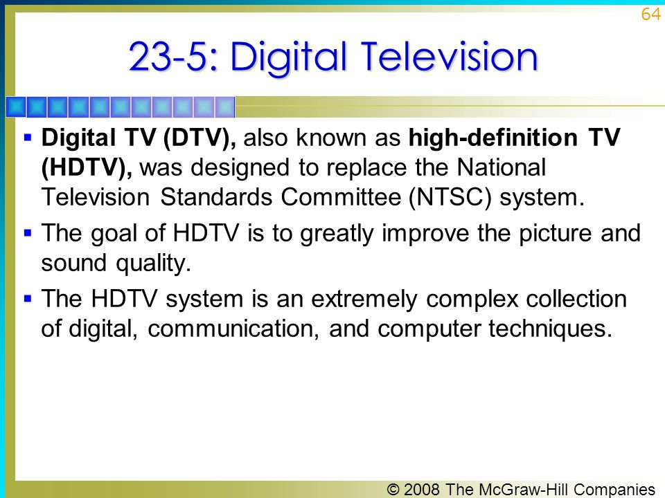 23-5: Digital Television