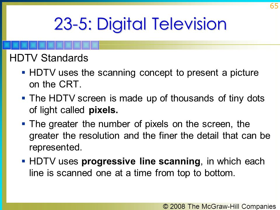 23-5: Digital Television HDTV Standards