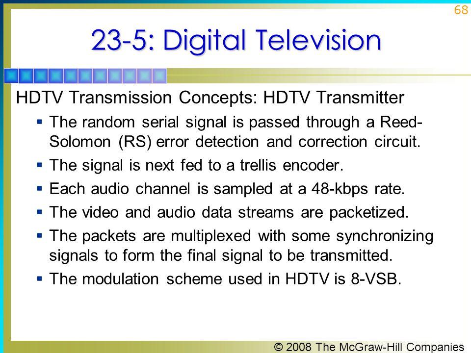 23-5: Digital Television HDTV Transmission Concepts: HDTV Transmitter