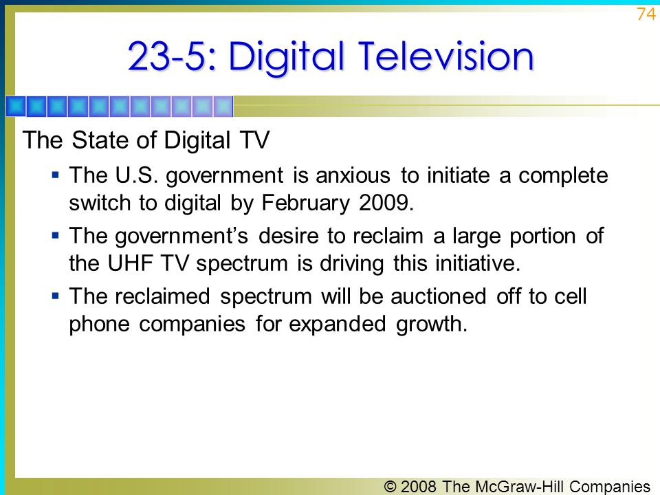 23-5: Digital Television The State of Digital TV