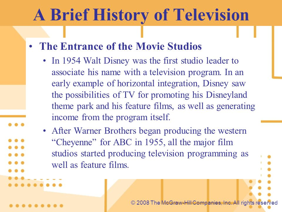 A Brief History of Television