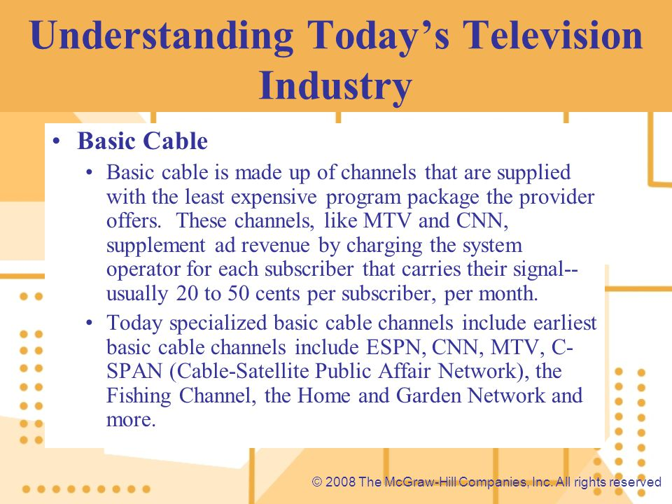 Understanding Today's Television Industry