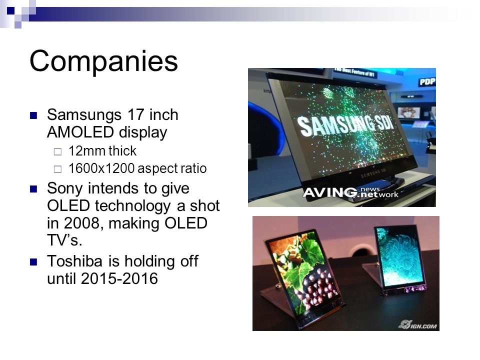 Companies Samsungs 17 inch AMOLED display