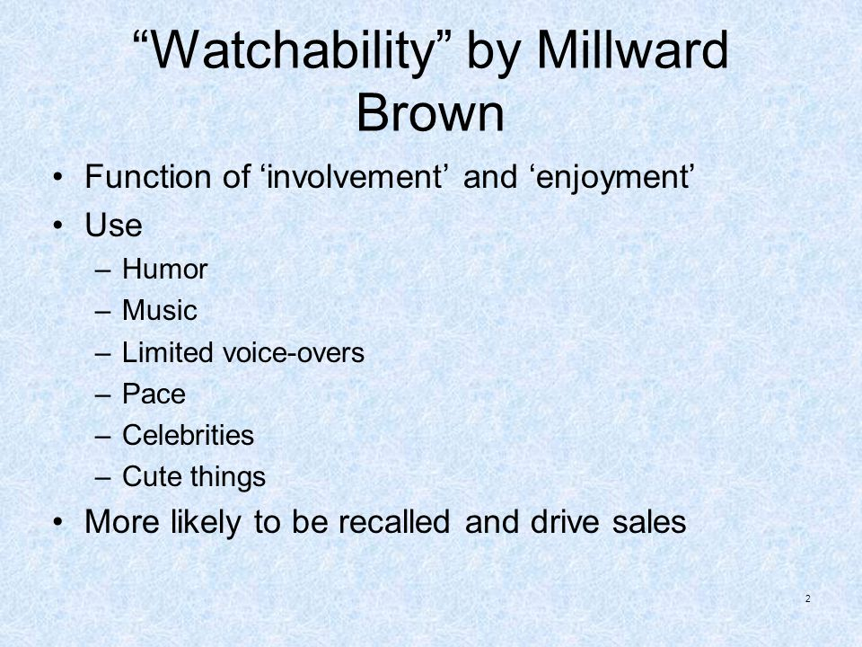 Watchability by Millward Brown