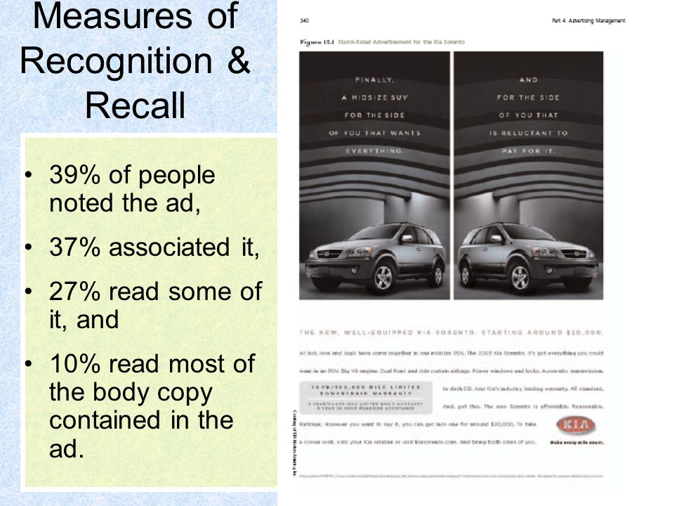Measures of Recognition & Recall