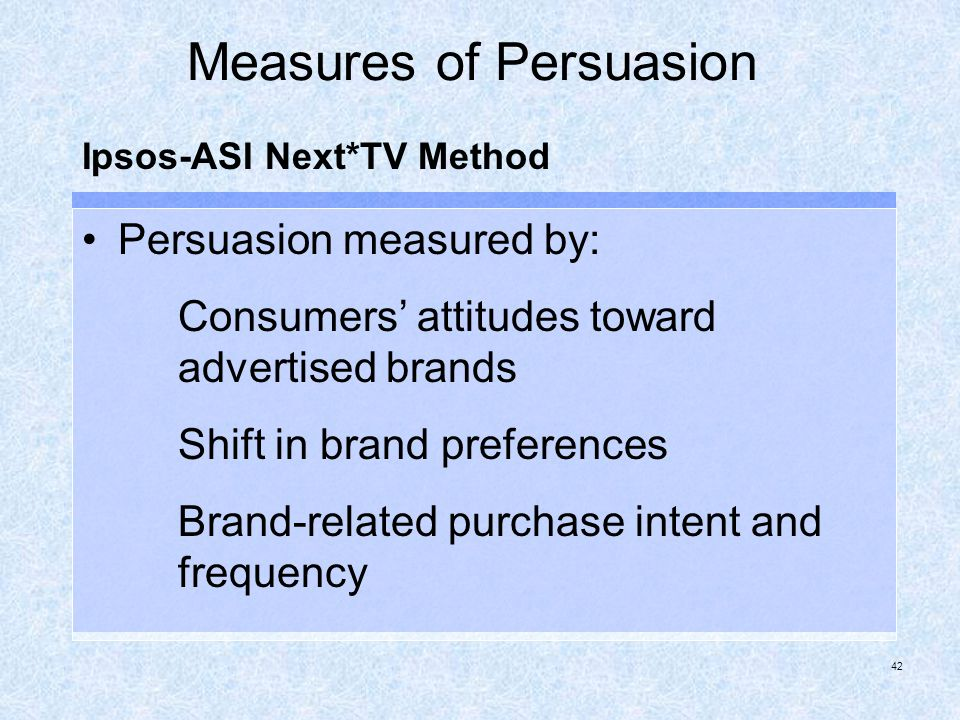 Measures of Persuasion
