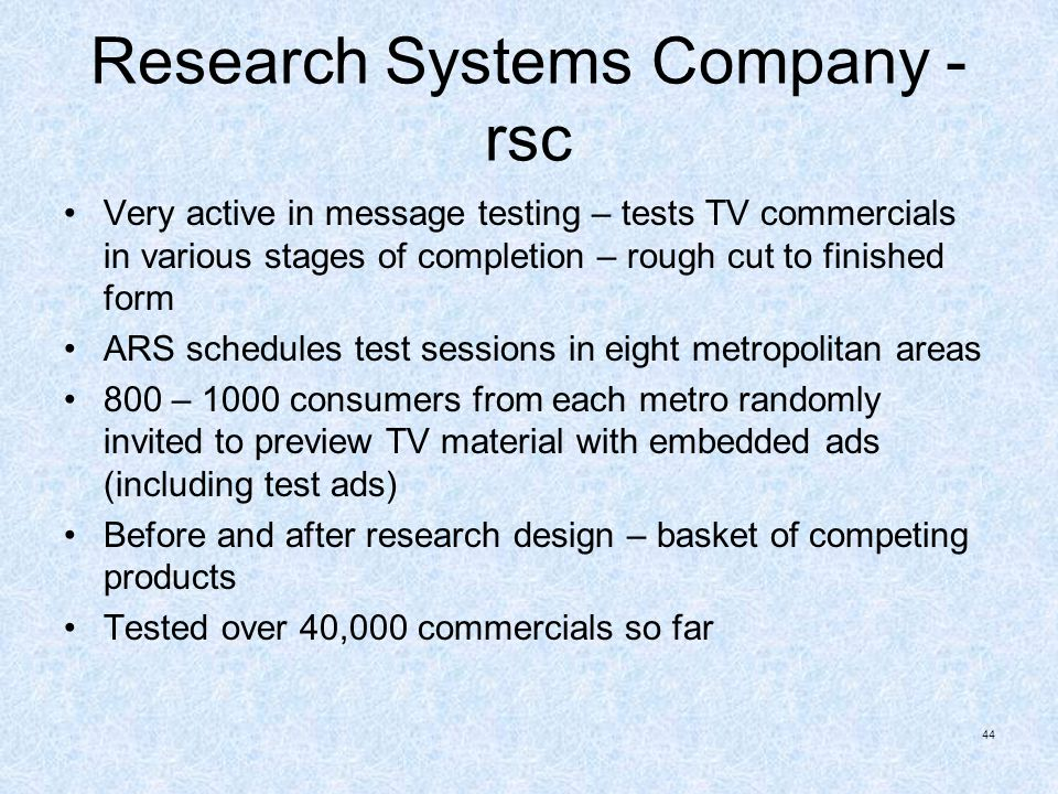 Research Systems Company - rsc