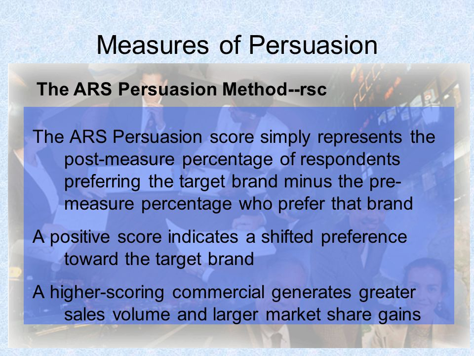 Measures of Persuasion