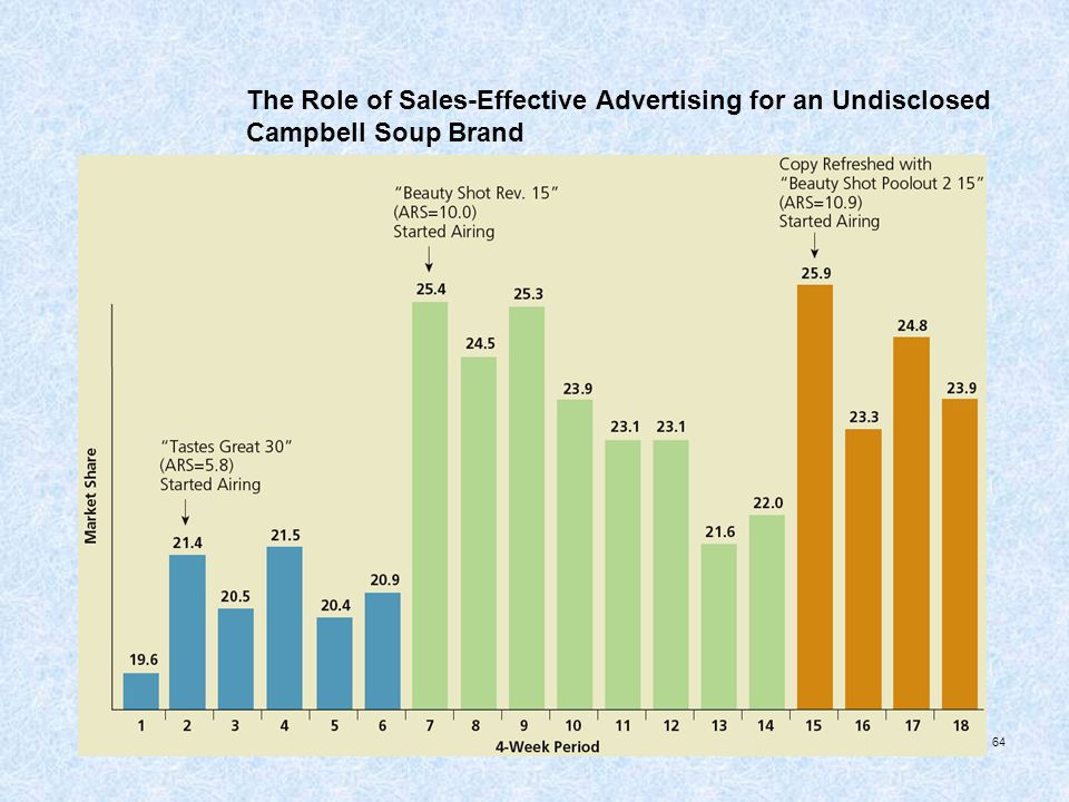 The Role of Sales-Effective Advertising for an Undisclosed Campbell Soup Brand