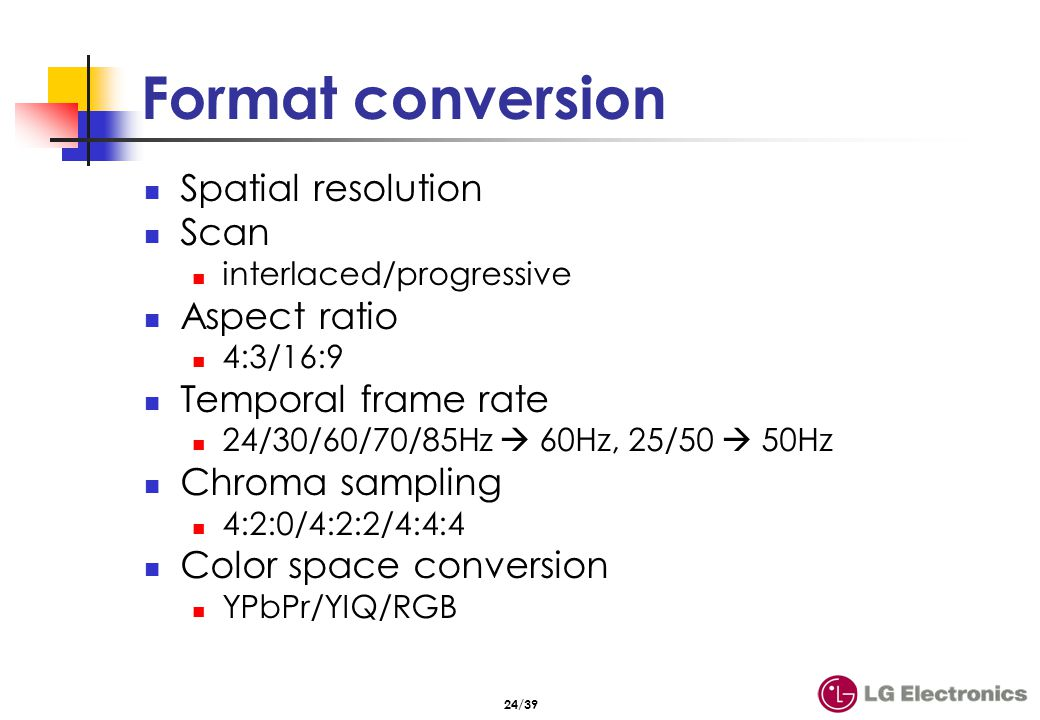 Spatial resolution & scan