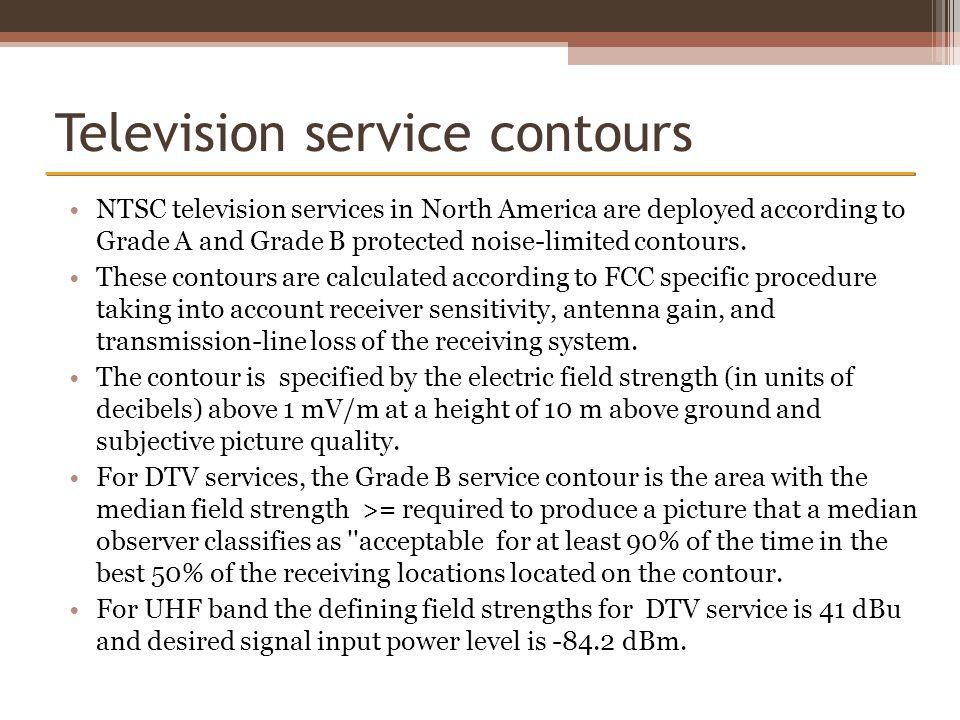 Television service contours