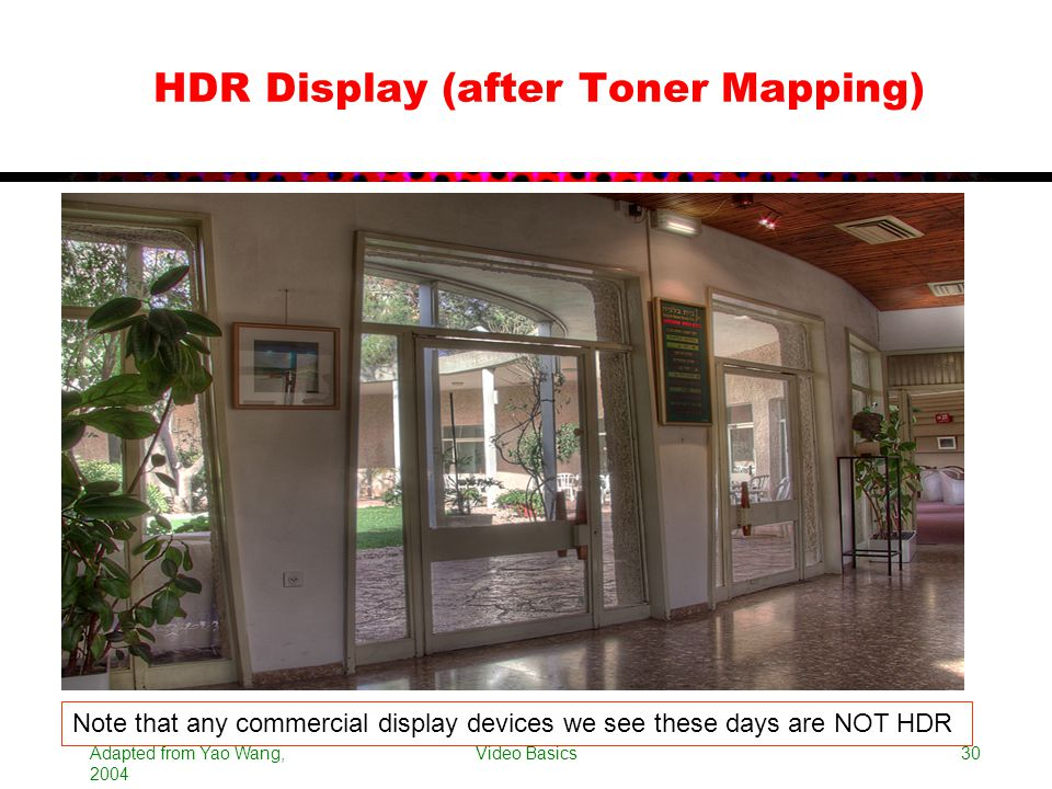 HDR Display (after Toner Mapping)