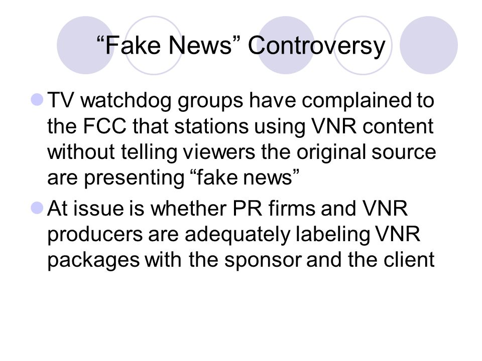 Fake News Controversy