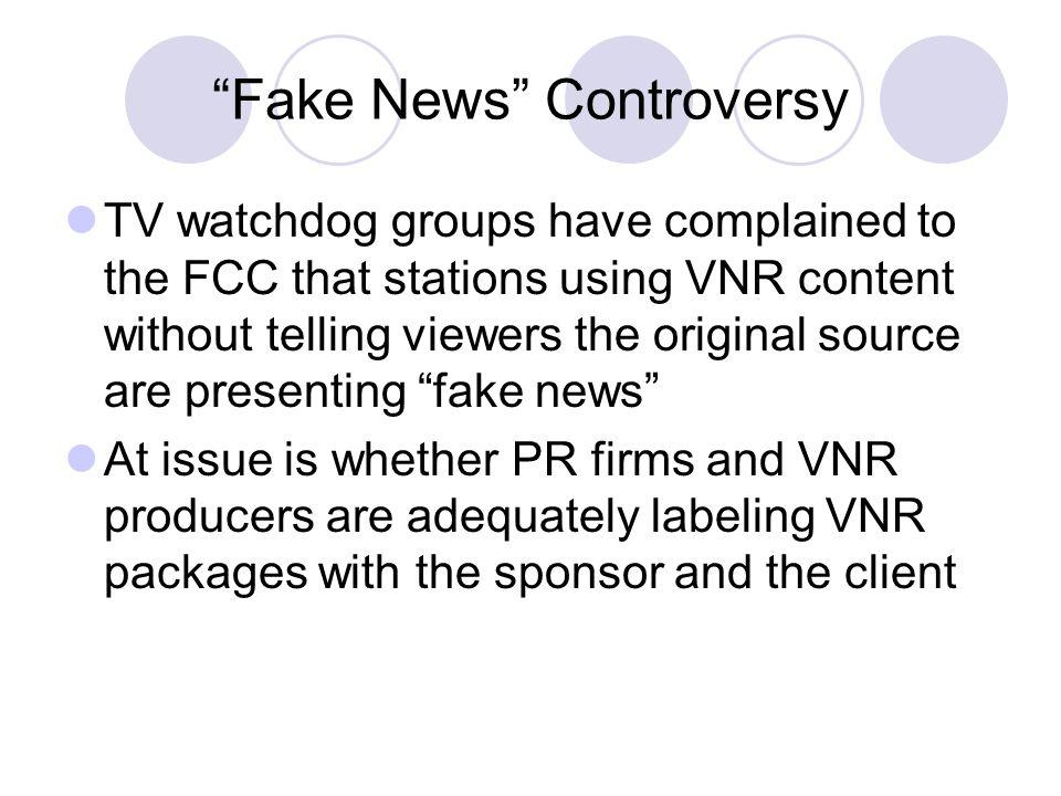 Fake News Controversy