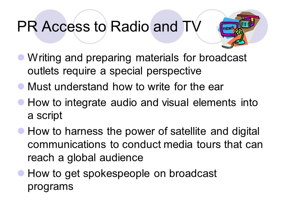 PR Access to Radio and TV