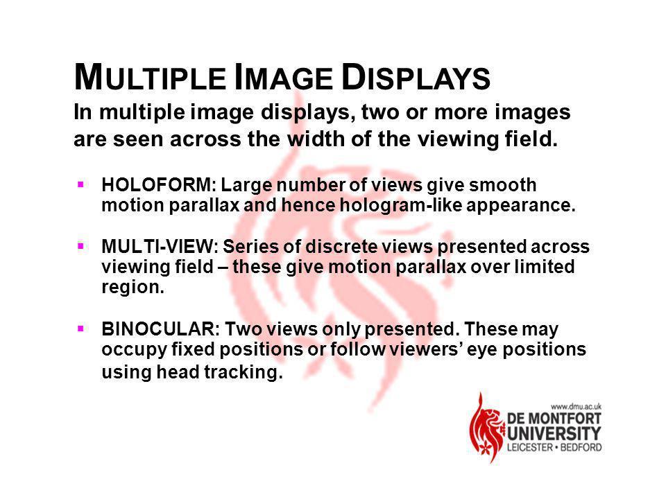 MULTIPLE IMAGE DISPLAYS