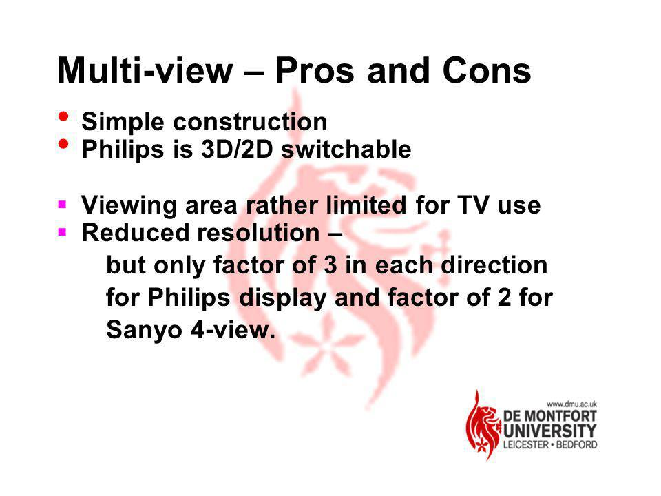 Multi-view – Pros and Cons
