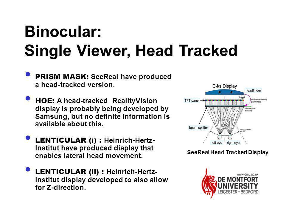 SeeReal Head Tracked Display
