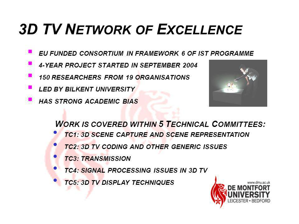 3D TV NETWORK OF EXCELLENCE
