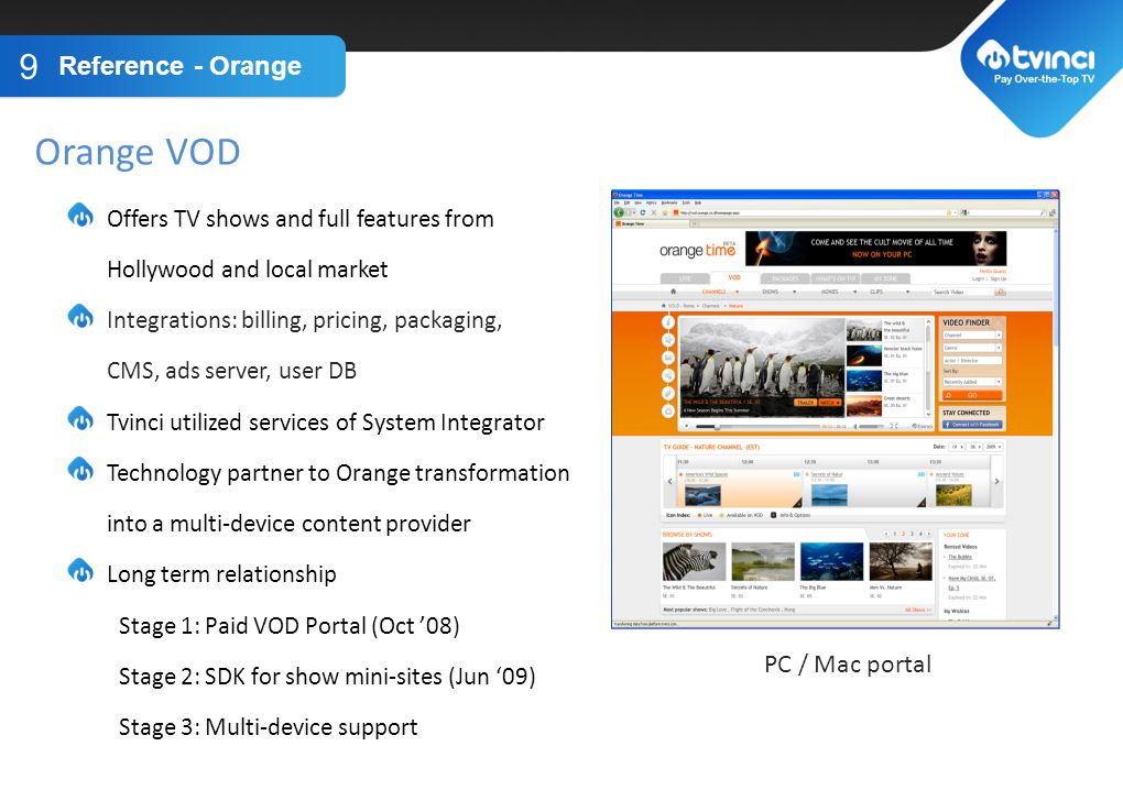 Orange VOD TITLE GOES HERE Reference - Orange PC / Mac portal