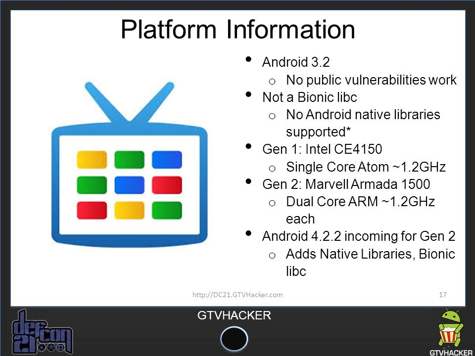 Platform Information Android 3.2 No public vulnerabilities work