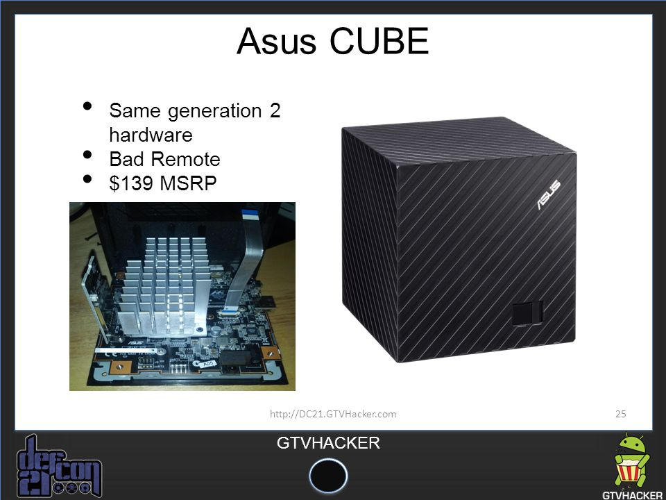 Asus CUBE Same generation 2 hardware Bad Remote $139 MSRP