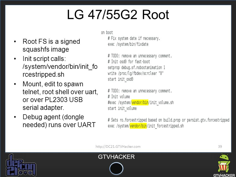 LG 47/55G2 Root Root FS is a signed squashfs image