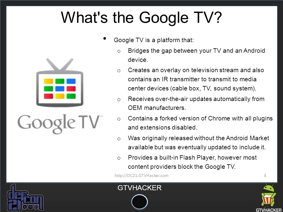 What s the Google TV Google TV is a platform that: