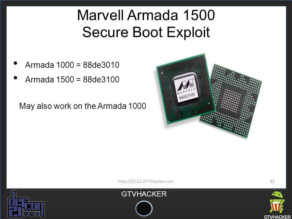 Marvell Armada 1500 Secure Boot Exploit