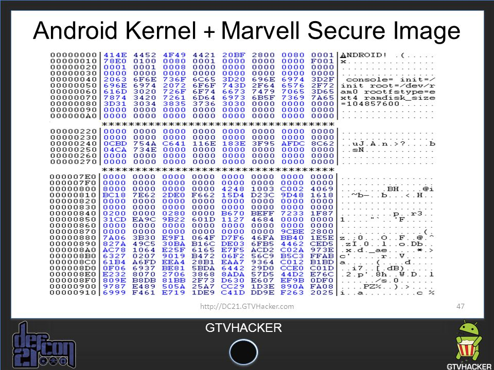 Android Kernel + Marvell Secure Image