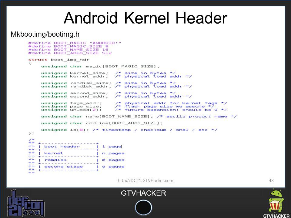 Android Kernel Header Mkbootimg/bootimg.h http://DC21.GTVHacker.com