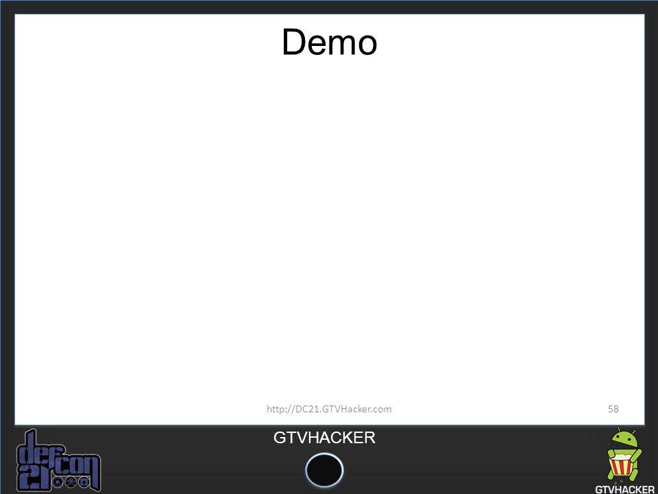 Demo http://DC21.GTVHacker.com