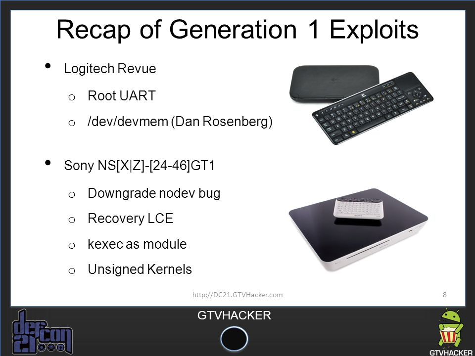 Recap of Generation 1 Exploits
