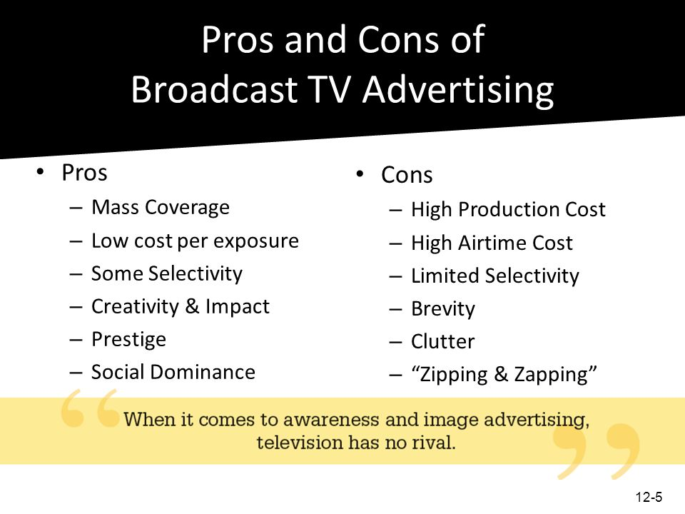 Pros and Cons of Broadcast TV Advertising