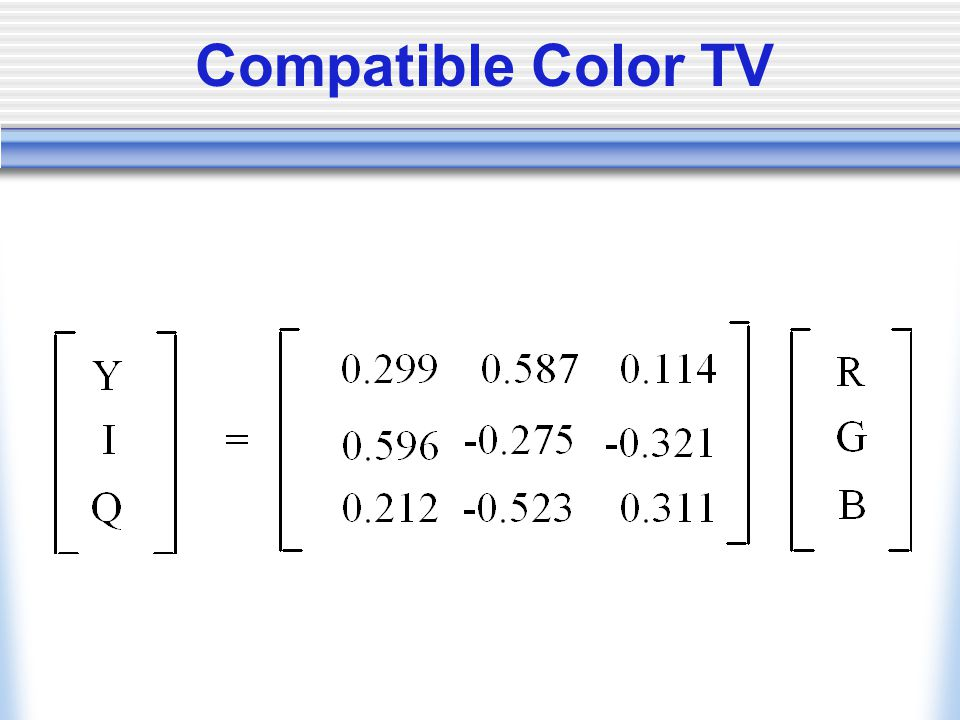Compatible Color TV