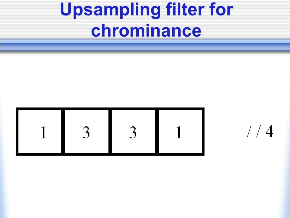Upsampling filter for chrominance