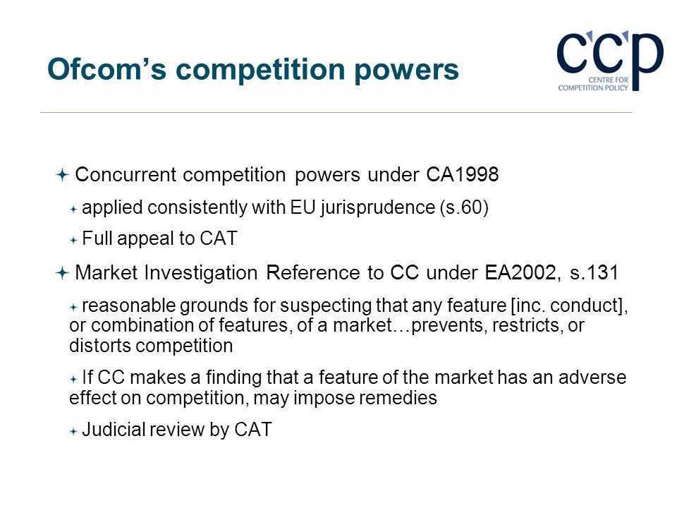 Ofcom's competition powers