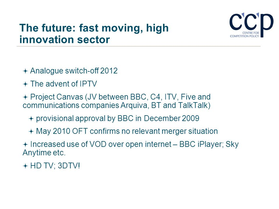 The future: fast moving, high innovation sector